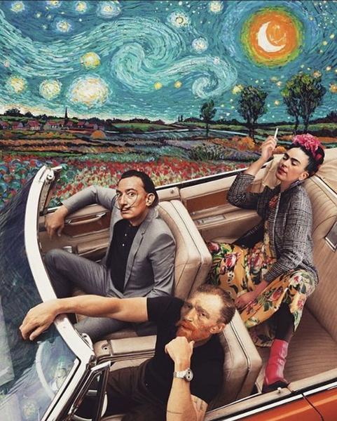 Картина В Машині І Зоряна Ніч