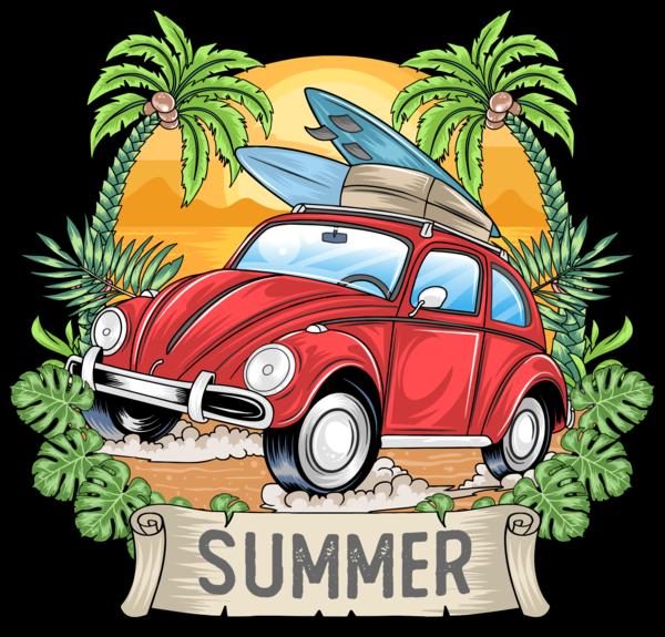 Літо, Машина І Пальми