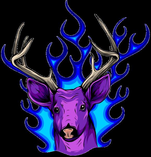 Олень Фіолетовий