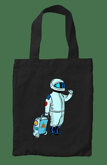 Сумка з принтом Космонавт З Валізою. Космонавт, космос, чемодан. CustomPrint.market