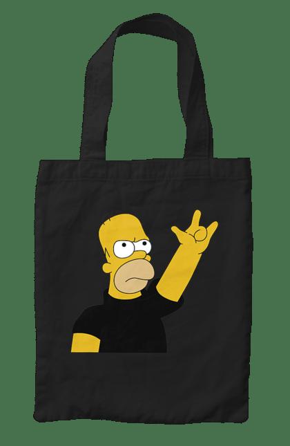 Сумка з принтом Гомер рокер. Гомер, мультики, рок, сімпсони. CustomPrint.market