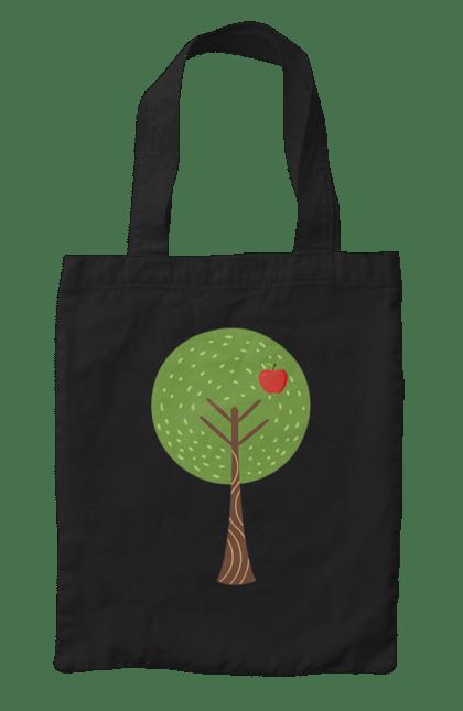 Сумка з принтом Яблучне дерево батько. Батьки, батько, мати, сім'я. CustomPrint.market