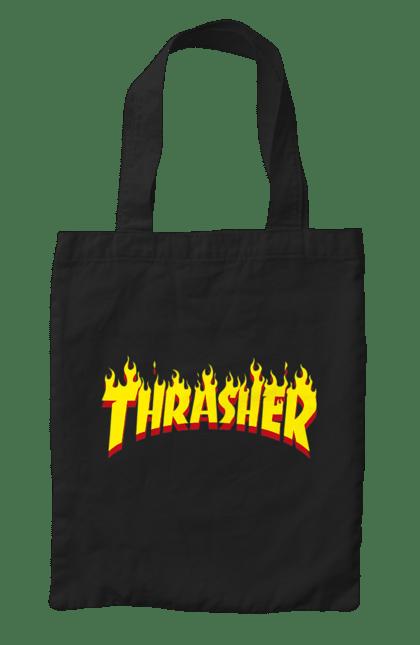 Сумка з принтом Thrasher. Thrasher, бренд, позитив. CustomPrint.market