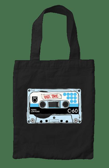 Сумка з принтом Блакитна Касета Для Програвання. 90е, касета, музика. CustomPrint.market
