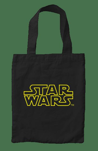 Сумка з принтом Star Wars Logo Yellow. Заставка, зоряні війни, лого, напис. CustomPrint.market