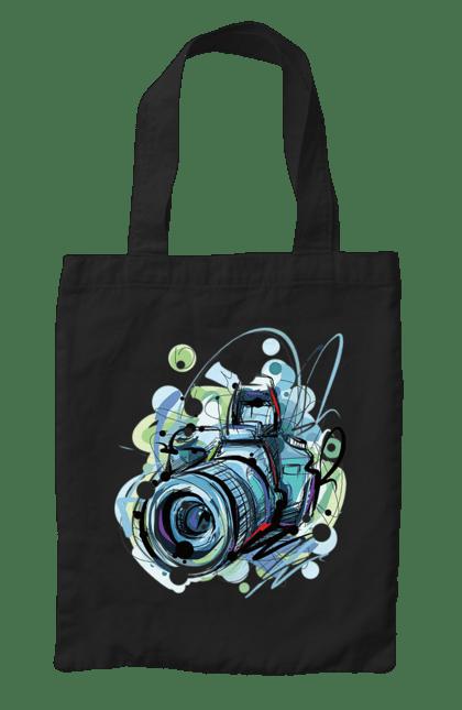 Сумка з принтом Арт Фотоапарат. Камера, фотоапарат, фотограф. CustomPrint.market