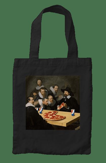 Сумка з принтом Скуштуйте Піци. Їжа, картина, піца, приколи. CustomPrint.market