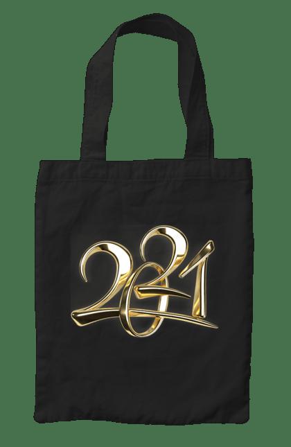 Сумка з принтом З новим 2021 роком!. 2 021, новий рік, свято. CustomPrint.market