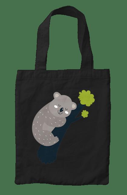Сумка з принтом Коала на гілочці. Гілочка, коала, спить, фарби. CustomPrint.market