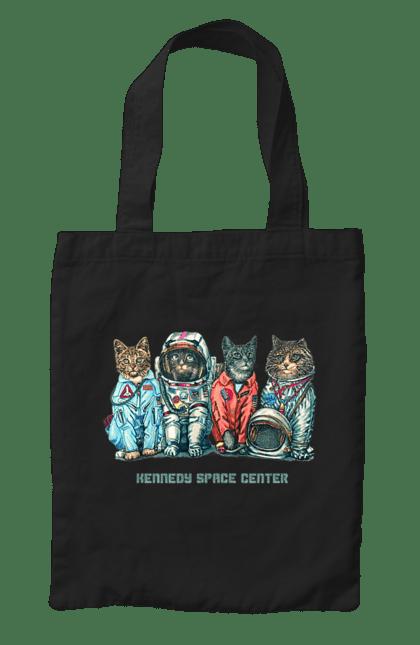 Сумка з принтом Коти космонавти. Космонавт, коти, котики, любі. CustomPrint.market