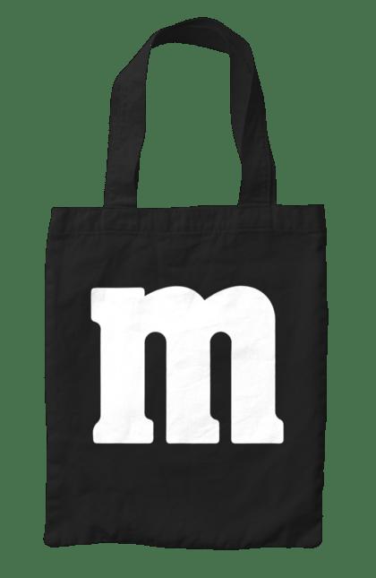 Сумка з принтом М. Літера, м, напис. CustomPrint.market