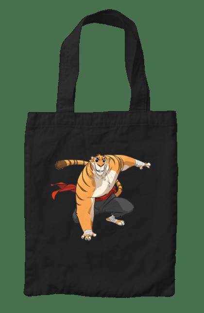 Сумка з принтом Кунг Фу Тигр. Кунг фу, окуляри, тигр. CustomPrint.market