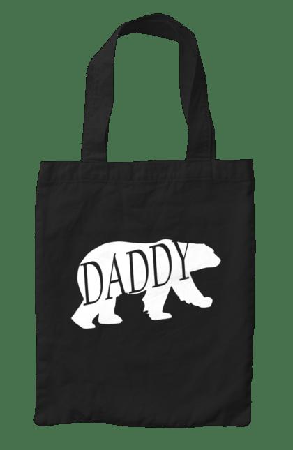 Сумка з принтом Папа ведмідь. Батько, ведмідь, сімейні. CustomPrint.market