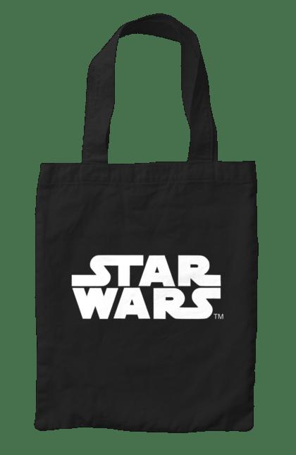 Сумка з принтом Star Wars White. Заставка, зоряні війни, напис. CustomPrint.market