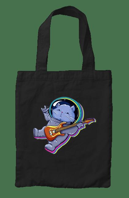 Сумка з принтом Кіт В Космосі. Гітара, кіт, космонавт. CustomPrint.market