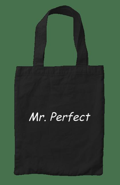 Сумка з принтом Містер досконалість. Досконалість, містер, парні, сімейні. CustomPrint.market