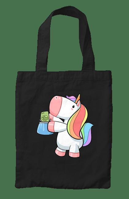 Сумка з принтом Єдиноріг з сумкою. Єдиноріг, покупки, сумка. CustomPrint.market