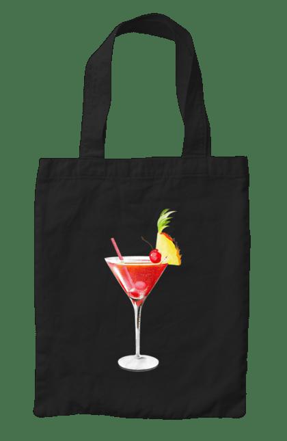 Сумка з принтом Ананасовий коктейль. Алкоголь, ананас, коктейль. CustomPrint.market