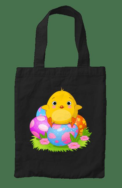 Сумка з принтом Великоднє Курча І Яйця. Великодні яйця, курча, паска. CustomPrint.market