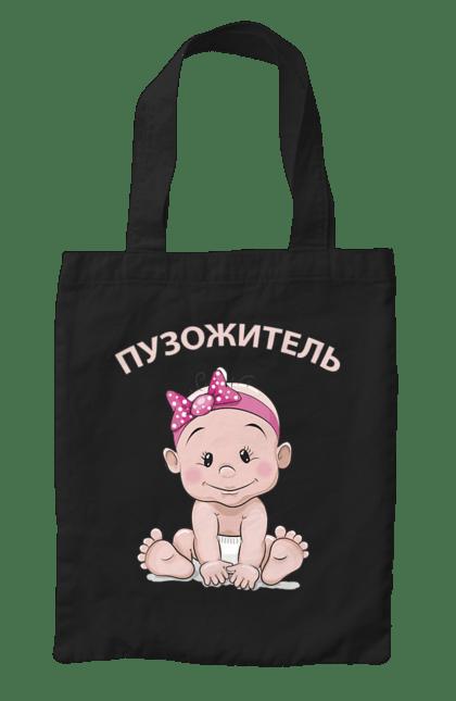 Сумка з принтом пузожітель. Вагітність, дитина, малюк. CustomPrint.market