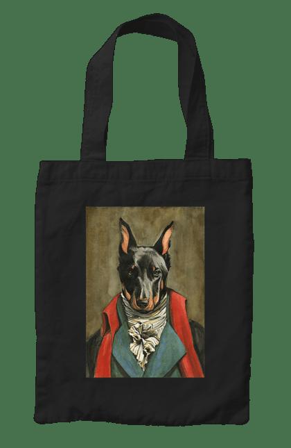 Сумка з принтом Граф Доберман. Доберман, картина, собака. CustomPrint.market