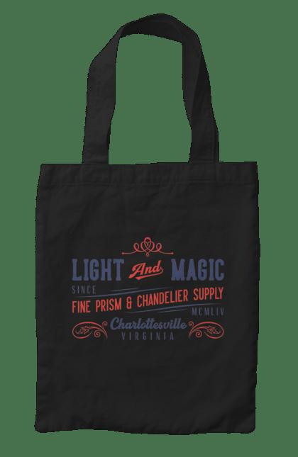 Сумка з принтом Легка магія. Магія, напис, ретро. CustomPrint.market