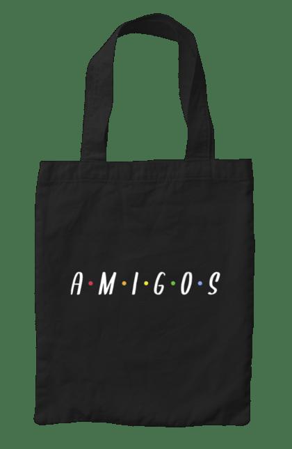 Сумка з принтом Amigos Friends. Амигос, вітання, друзі, літо. CustomPrint.market
