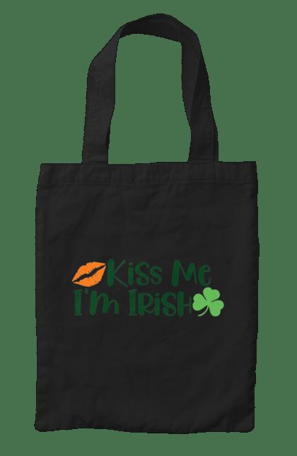 Сумка з принтом Поцілуй мене, я ірландець. Ірландець, патрік, поцілуй. CustomPrint.market