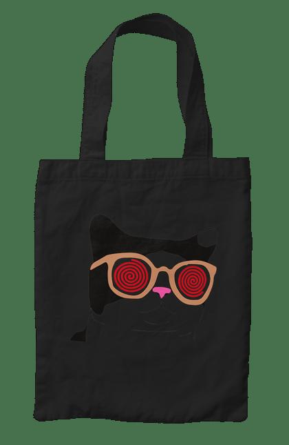 Сумка з принтом Окуляри. Гіпноз, кіт, котики, окуляри. CustomPrint.market