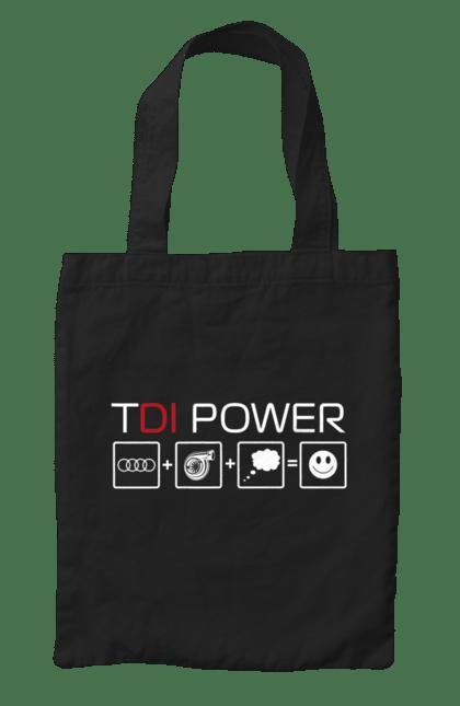 Сумка з принтом TDI Power Audi. Ауді, машини. CustomPrint.market