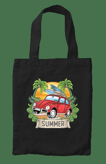 Сумка з принтом Літо, Машина І Пальми. Відпочинок, літо, машина, пальми.
