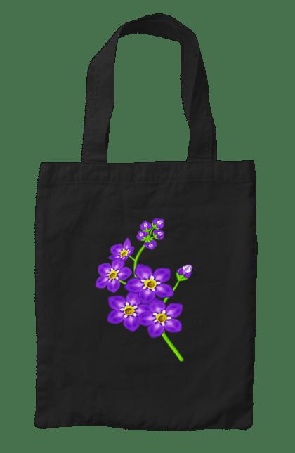 Сумка з принтом Фіолетовий букет. Букет, квіточки, фіолетовий. CustomPrint.market