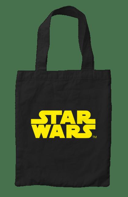 Сумка з принтом Star Wars Yellow. Заставка, зоряні війни, напис. CustomPrint.market