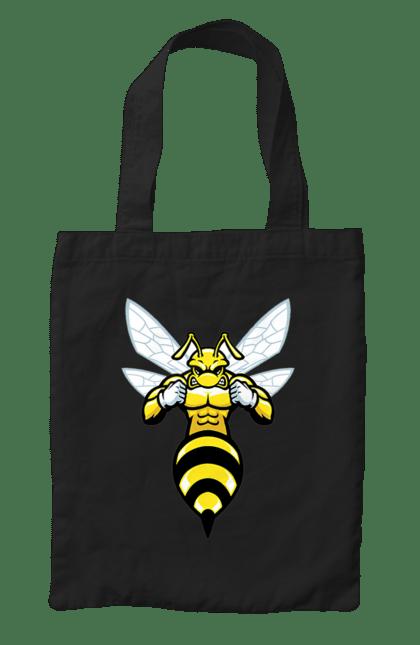 Сумка з принтом Бджола Качок. Бджола, качок, комаха. CustomPrint.market
