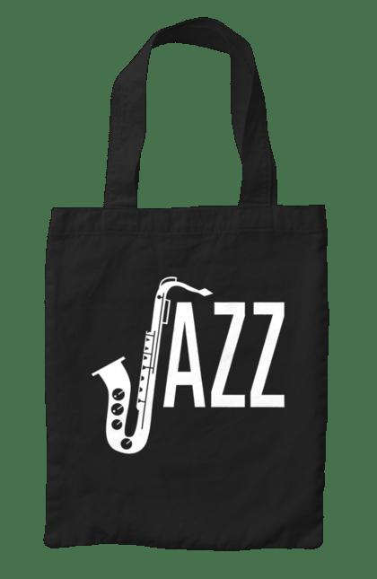 Сумка з принтом Джаз, Білий. Джаз, музика. CustomPrint.market