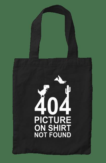 Сумка з принтом 404 Wh. 404, напис. CustomPrint.market