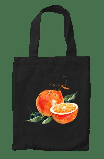 Сумка з принтом Помаранчевий Апельсин. Апельсин, помаранчевий апельсин, фрукт, цитрус. CustomPrint.market