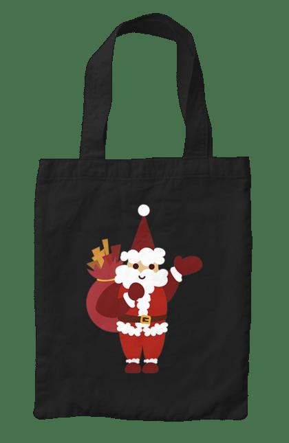 Сумка з принтом Санта з подарунками. Мішок, новий рік, подарунки, різдво, санта. CustomPrint.market