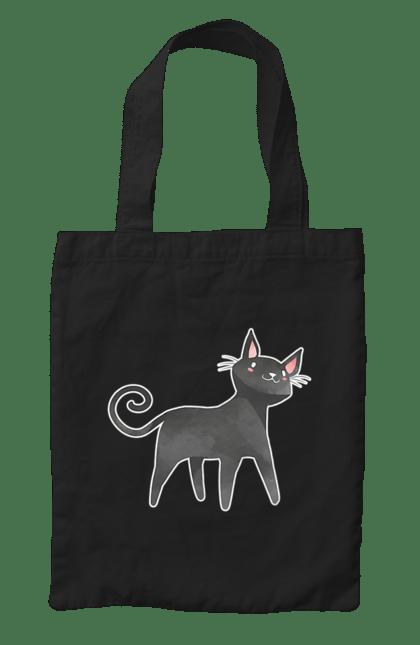 Сумка з принтом Котик Хелловін. Кіт, котик, хелловін, чорний. CustomPrint.market