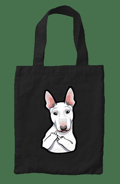 Сумка з принтом Бультер'єр З Факами. Бультер'єр, собака, фак. CustomPrint.market