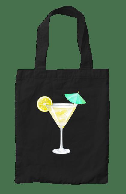 Сумка з принтом Жовтий коктейль. Алкоголь, жовтий, коктейль. CustomPrint.market