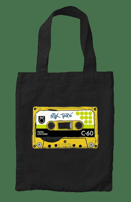 Сумка з принтом Жовта Касета Для Програвання. 90е, касета, музика. CustomPrint.market