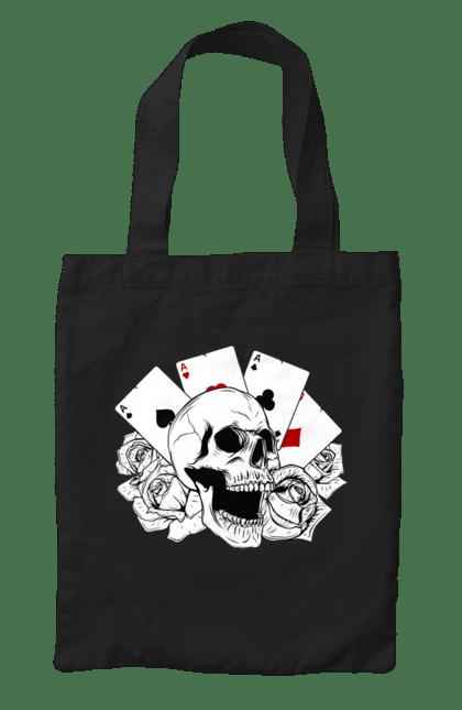 Сумка з принтом Череп І Карти. Карти, мафія, скелет, череп. CustomPrint.market