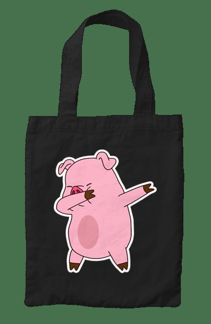 Сумка з принтом Деб свинка. Debing, свинка. CustomPrint.market