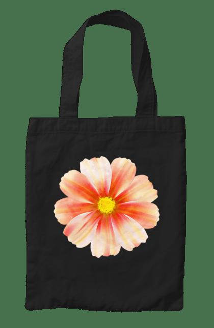 Сумка з принтом Помаранчева квітка 3. Квітка, квіточки, помаранчевий. CustomPrint.market