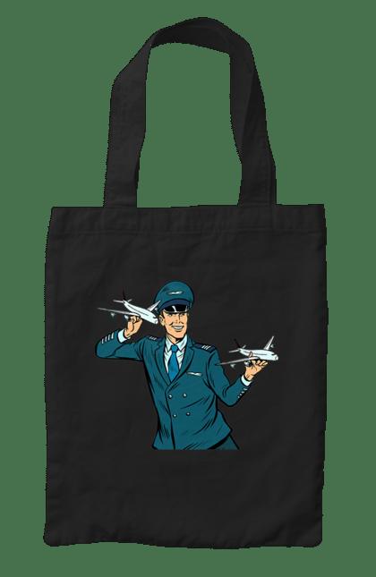 Сумка з принтом Пілот. Літак, літати, пілот, професія. CustomPrint.market