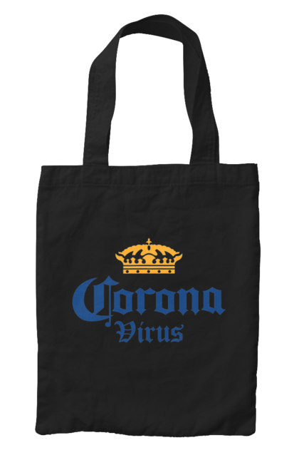 Сумка з принтом Корона вірус. Вірус, гумор, корона, напис. CustomPrint.market