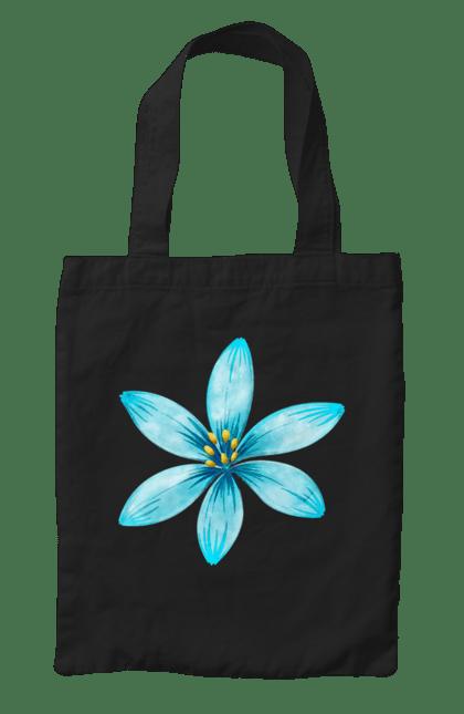 Сумка з принтом Блакитна квітка 2. Блакитний, квітка, квіточка. CustomPrint.market
