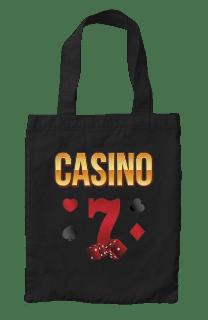 Сумка з принтом Casino 7. Виграш, казино, покер, фішки. CustomPrint.market