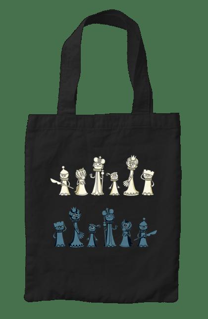 Сумка з принтом Мультяшні Шахи. Настільна гра, шахи. CustomPrint.market